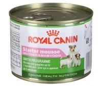 Royal Canin Starter Mousse влажный корм для сук в конце беременности и в период лактации,  для щенков от момента отъема до 2 мес 195гр