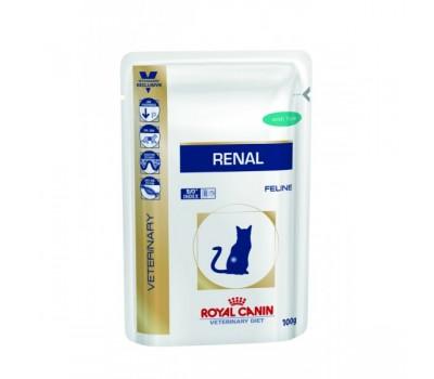 Royal Canin Renal Диета для кошек при хронической почечной недостаточности  пауч 85гр*12шт курица