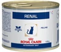 Royal Canin Renal Диета для кошек при хронической почечной недостаточности  банка 195гр курица