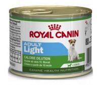 Royal Canin Adult Light влажный корм для собак с 10 месяцев до 8 лет, предрасположенных к полноте.195гр