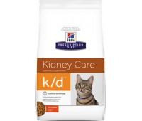 """Hill's Prescription Diet k/D для кошек """"Лечение почек, сердца и нижнего отдела мочевыводящих путей"""", K/D Feline with Chicken"""