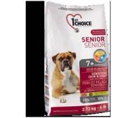 1ST CHOICE для стареющих собак. Чувствительная шерсть и кожа. Формула с ягненком, рыбой и коричневым рисом 12 кг