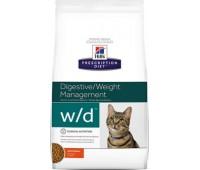 "Hill's Prescription Diet w/D для кошек ""Лечение сахарного диабета, запоров, расстройств ЖКТ"""