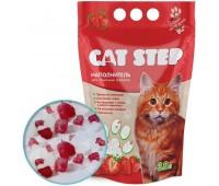 Cat Step Силикагель наполнитель для кошачьих туалетов с ароматом клубники 3,8л (1,63кг)