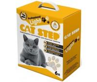 """Cat Step Professional """"LIGHT"""" бентонитовый комкующийся наполнитель для кошачьих туалетов 6л 2,7кг"""