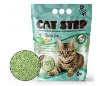 Cat Step Tofu Green Tea 6л (2,7кг) наполнитель растительный комкующийся