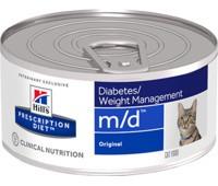 Hill's PD M/D Лечение Сахарного Диабета и Ожирения Консервы 156гр