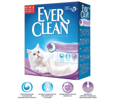 EVER CLEAN Lavender Наполнитель для кошек с ароматом Лаванды 10кг