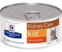 """Hill's вет.консервы консервы K/D для кошек """"Лечение почек"""", k/d Feline with Chicken 156гр"""