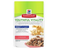 Hill's Science Plan Youthful Vitality аппетитные кусочки в соусе для кошек старше 7 лет лосось 85гр