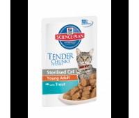 Hill's Sterilised Cat Кусочки в Соусе для Стерилизованных Кошек форель 85гр