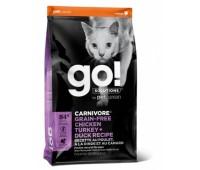 GO!™ GO! FIT + FREE Беззерновой для Котят и Кошек - 4 вида Мяса: Курица, Индейка, Утка и Лосось (Fit + Free Grain Free Chicken, Turkey, Duck Cat Recipe)