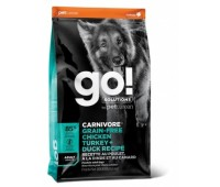 GO!™ Fit + Free Grain Free All life Stages Беззерновой для собак всех возрастов 4 вида мяса: индейка, курица, лосось, утка