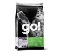 GO!™ GO! SENSITIVITY + SHINE™ Беззерновой для Котят и Кошек с Чувств.пищеварением: Форель, Лосось (Sensitivity + Shine Grain Free Freshwater Trout&Salmon Cat Recipe)