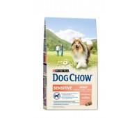 Dog Chow (Дог Чау) для собак с чувствительным пищеварением лосось