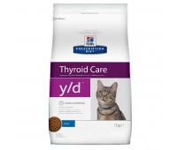 Hill's Prescription Diet Y/D для Кошек Лечение Гипертиреоза