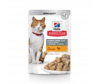 Hill's Sterilised Cat Кусочки в Соусе для Стерилизованных Кошек кура 85гр